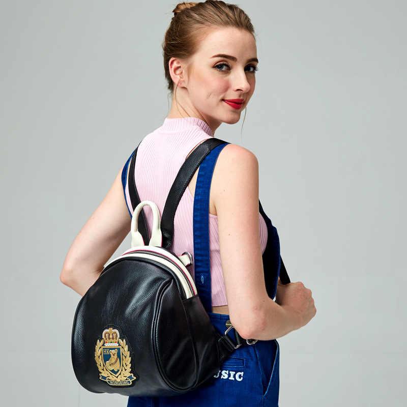 YUFANG Merek Ransel Wanita Gaya Barat Fashion Wanita Harian Tas Travel Tas Wanita Lucu Lembut Manis Wanita Tas Belanja
