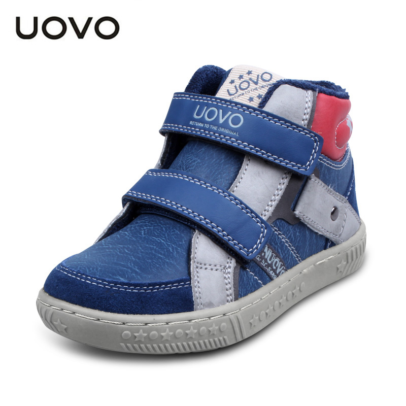 UOVO 2017 New Autumn Winter Kids Running Shoes Boys Casual Sports Sneakers Hook and Loop Children School Shoes Size 27-37