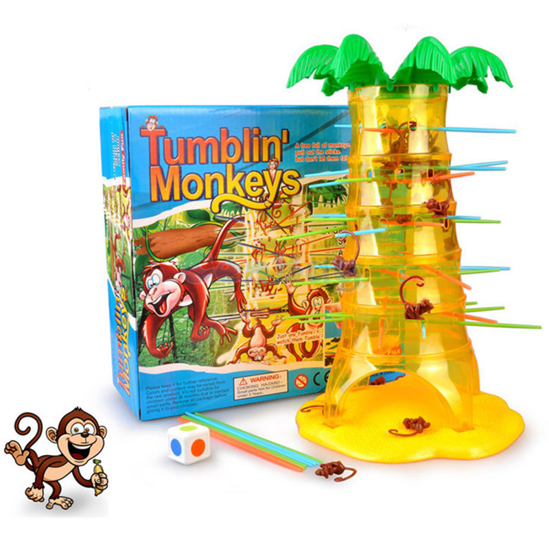 Funny Dump Monkey Falling Tumbling Monkeys Pick Up Stick Party & Family Board Game Parent-child Interaction Game Toys Kids Gifts disassembled pack mini cnc 3018 pro 5500mw laser cnc engraving machine pcb milling machine wood carving machine