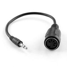 Midi 어댑터 브레이크 아웃 케이블 din female 용 B 3.5mm 스테레오 오디오 잭