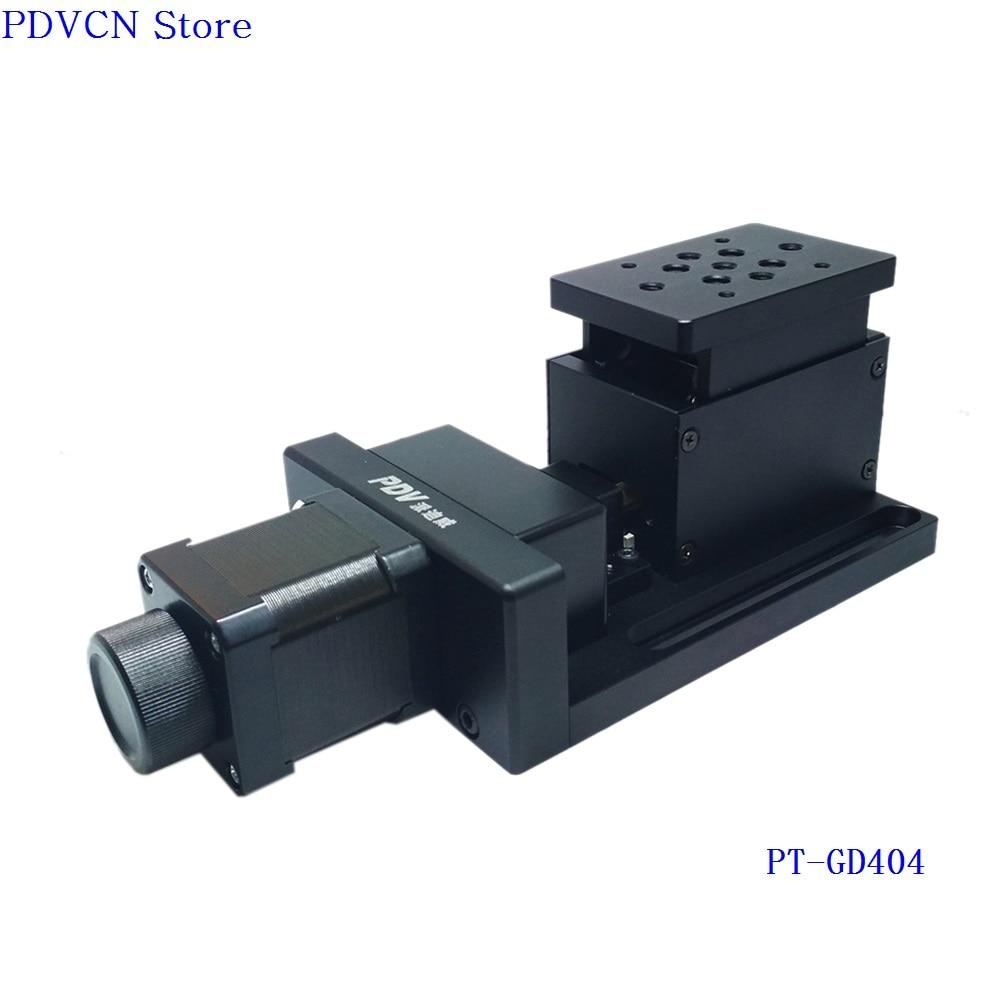PT-GD404 Electric Lifting Platform  Motorized Lab Jack  Elevator  Optical Sliding Lift  10mm Travel linear slide axis title=