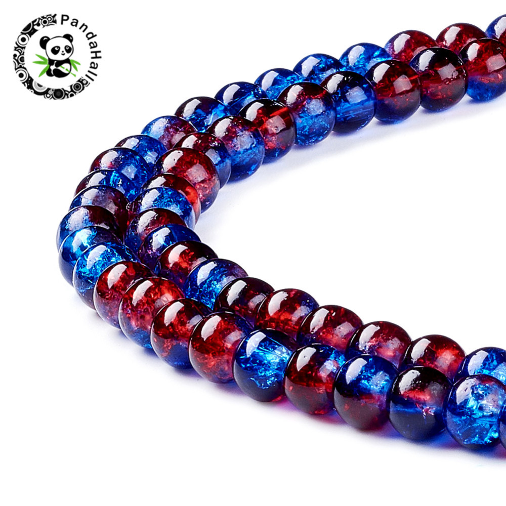 10 mm crackle glass beads