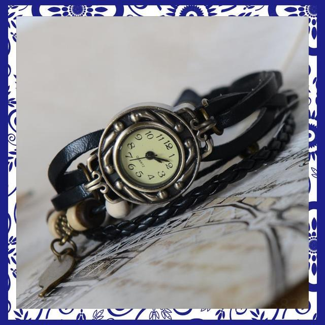 amazing cheap Fashion bracelet watch fashion table female student table vintage black