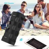 16W Outdoor Portable Bluetooth AUX Speaker Subwoofer Soundbar with NFC TF Loudspeaker HiFI Wireless IPX7 Waterproof Speakers