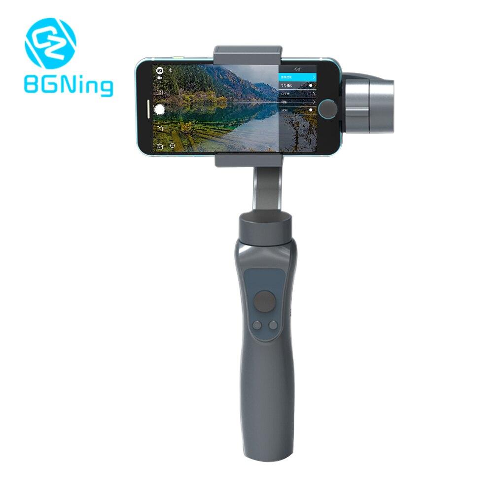 Stabilisateur de téléphone portable 3 axes Selfie Stick Anti-secousse en direct prise de vue à main support de cardan caméra GOPRO PK Zhiyun FeiyuTech