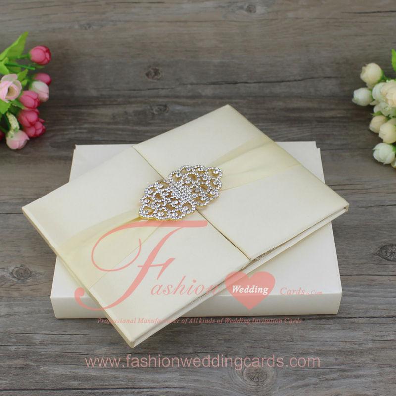 Top Quality Customized Royal Style Luxury Silk Material Wedding Invitation  Folder(China (Mainland)