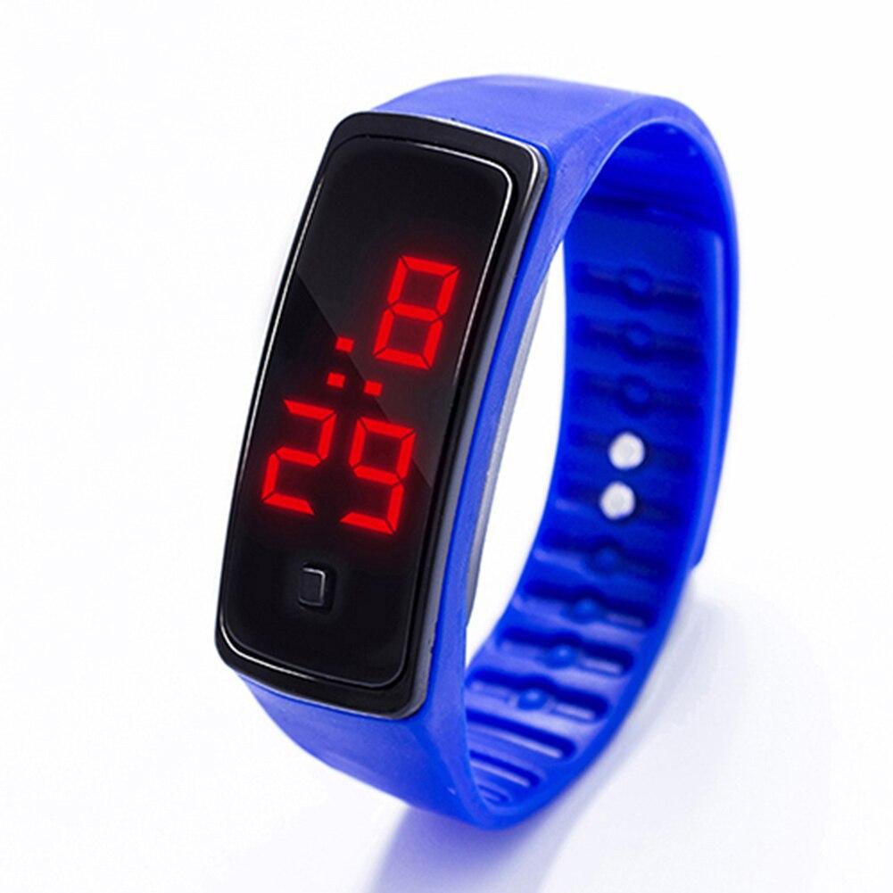 9bb5d53e56fb Reloj de pulsera de silicona de moda con pantalla LED Digital para hombre y  mujer