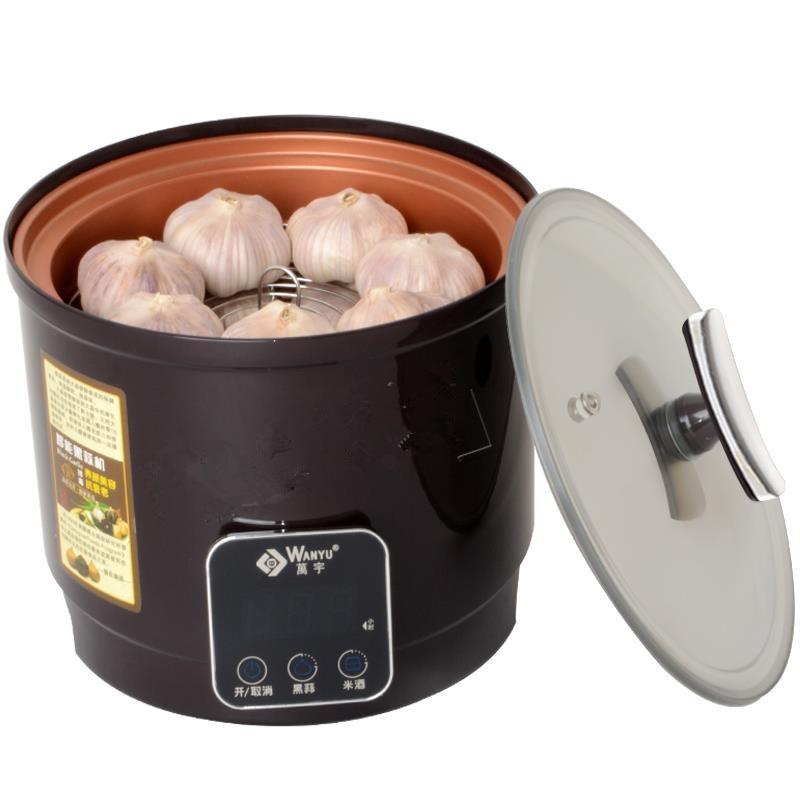 220V Automatic ELectric Black Garlic Fermenting Machine Touch Screen Household 6L Zymosis Garlic Maker Easy Operation EU/AU/UK