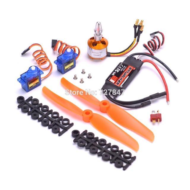 Skywalker 40A + A2212 2200KV + 6035 propellers + 2 x SG90 9G Micro Servo Set