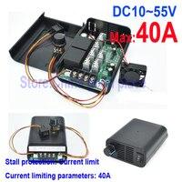 DC12V24V36V48V55V 40A Digital Display 0~100% Adjustable Drive Module PWM DC Motor Speed Brushless Controller
