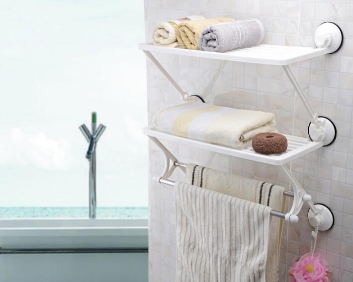 Cuisine deux double barre cadre en acier inoxydable cuisine bain serviette rack