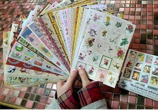 Wholesale retail great deal,new arrival fashion cute fun creative retro EU Style.Colorful Deco Diary Stickers.Multifunction.Cart ronald reagan new deal republican