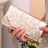 Brand Womens Wallets And Purses Female Long European And American Style Pu Leather Wallet Coin Purse