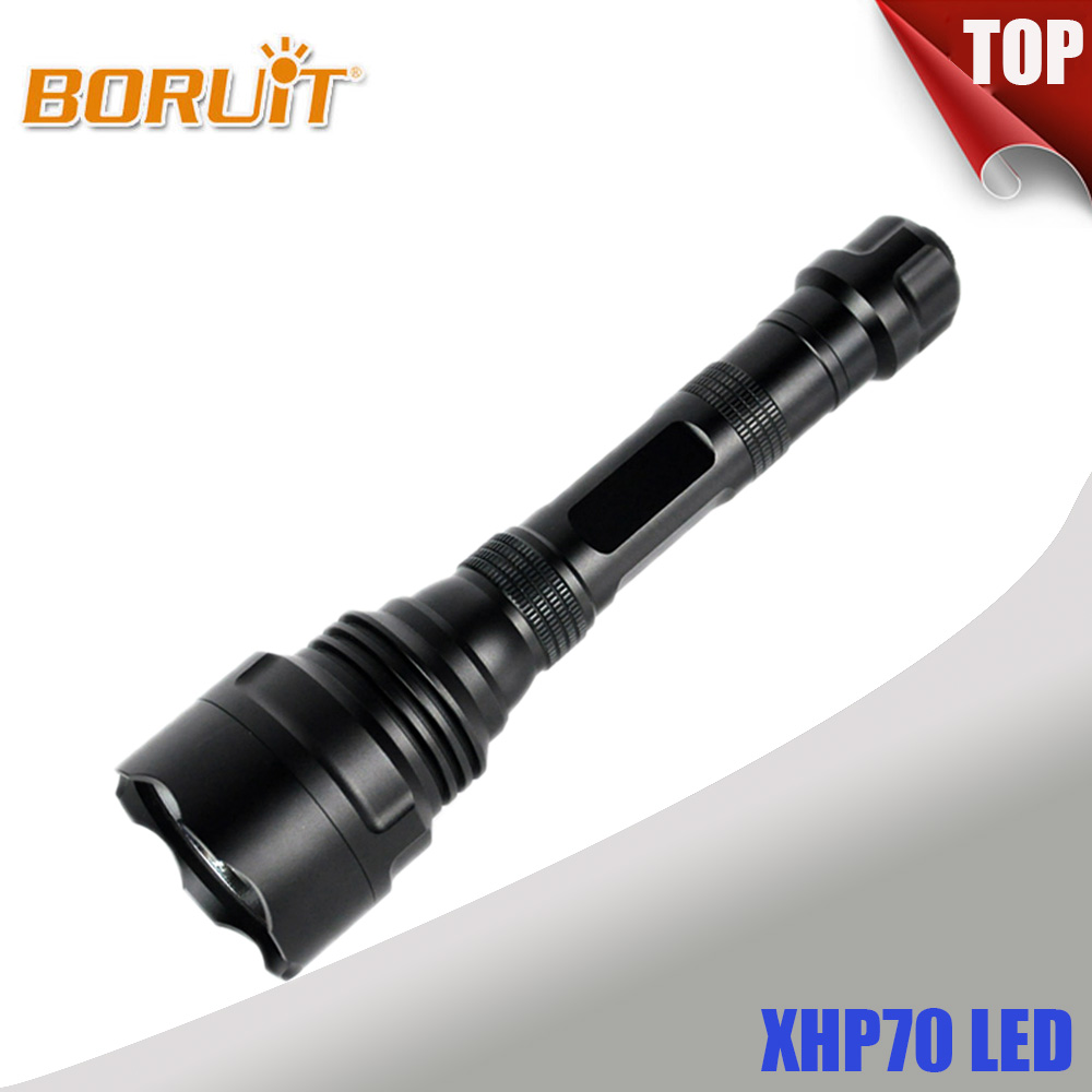 BORUIT Top Super Bright Searching XHP70 LED Flashlight Rechargeable Searching Light S58  ...