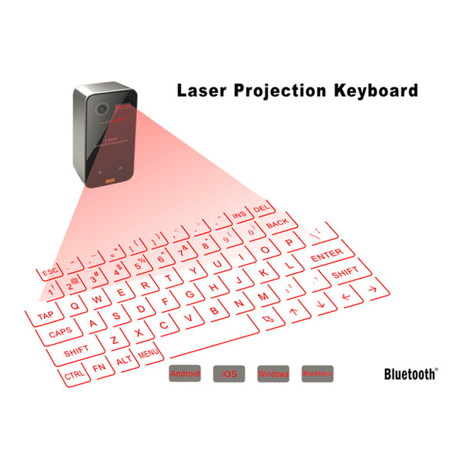 Mini Teclado de Proyección Virtual de Láser Portátil Y Ratón Para Para Tablet Pc En la Acción!!