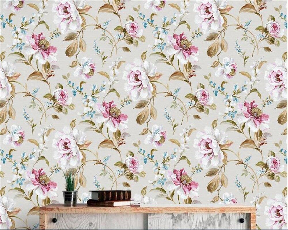 Beibehang European Style Silk Papel De Parede 3d Wallpaper Retro