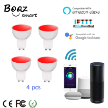 Boaz-EC Smart Wifi Spotlight 5W RGBW GU10 Dimmable Voice Remote Control Lamp Alexa Echo Google Home IFTTT Tuya