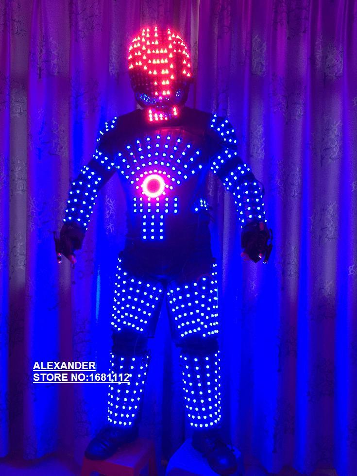 LED Clothing LED Robot font b suits b font LED Costume Light font b suits b