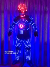 LED Clothing LED Robot suits LED Costume Light suits The programming controller sets the helmet