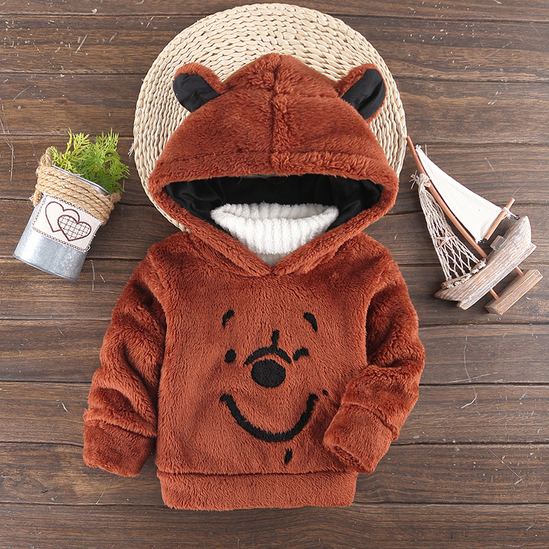 c180fb7bc 2018 New Children Baby Clothing Boys Girls Cute Bear Furry Tops Coat ...