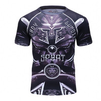 Spider Lion Men S 3D Printed T Shirt Short Sleeved Man T Shirt Compressed Clothes Quick