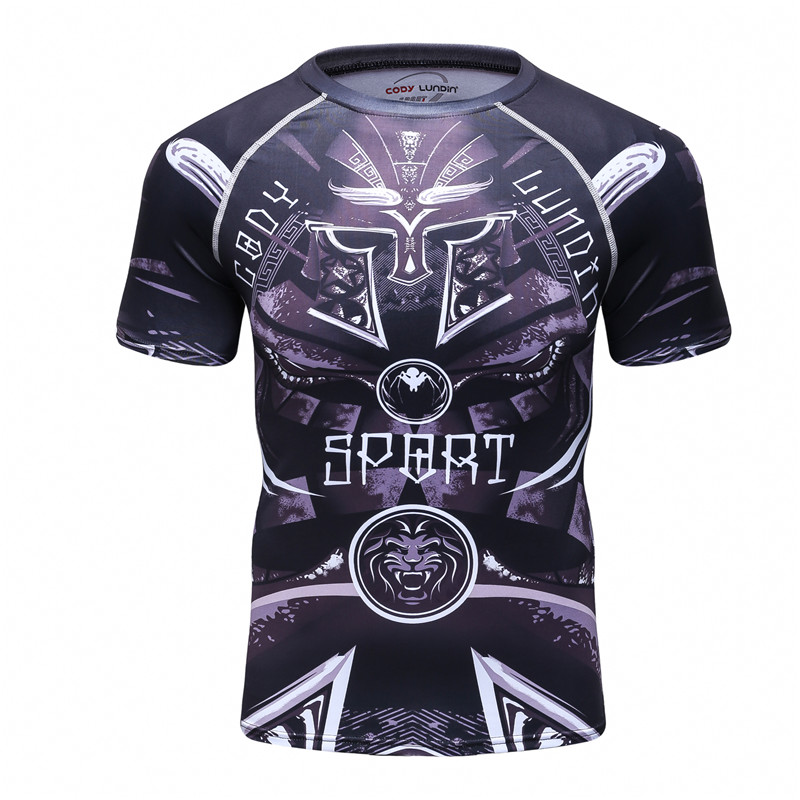 Spider lion men 39 s 3d printed t shirt short sleeved man t for Compressed promotional t shirts