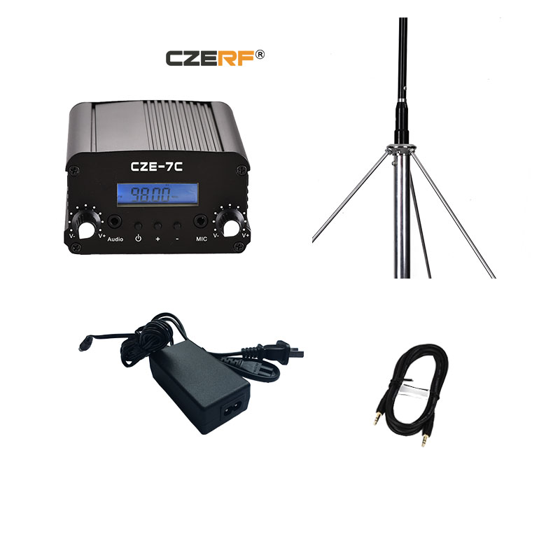 Incredible Free Shipping Cze 7C 1W 7W Wireless Long Range Fm Transmitter With 1 Wiring Cloud Hisonuggs Outletorg