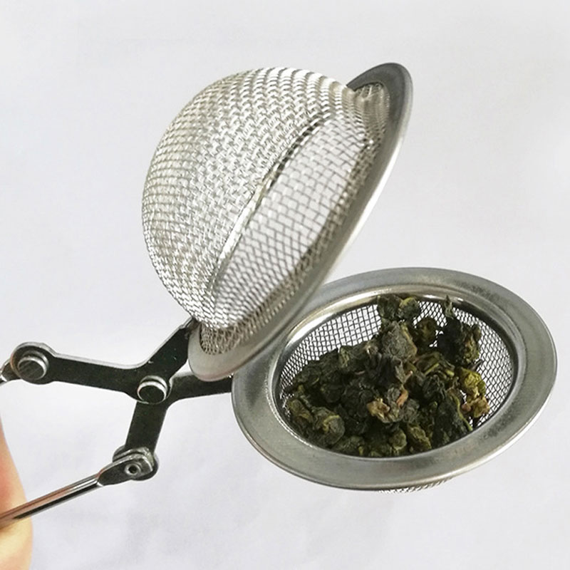 Stainless Steel Handle Sphere Mesh Tea Strainer Coffee Herb Spice Filter Diffuser Reusable Tea Infusers Drinking Tool