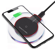 Portable Ultra-thin Acrylic Clear Qi Wireless Charger Chargi