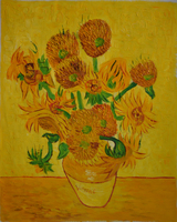 New Flowers Free Shipping Hand Painted Made Delivery Sunflowers Home Decor Hand Painted Made Canvas Oil
