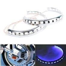 Новые тормозные крышки ротора светодиодный кольцо огня синий для Honda Goldwing GL1800 01-14 03