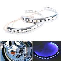 New Brake Rotor Covers LED Ring Of Fire Blue For Honda Goldwing GL1800 01 14 03