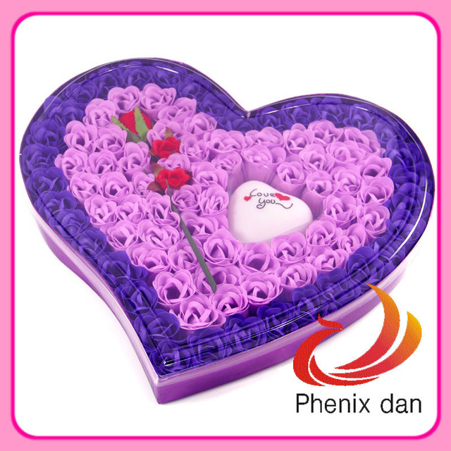Free Shipping New Arrival Valentine/Birthday Gift 100pcs washing  Rose Flower Soap with Led Light  for Wedding favors