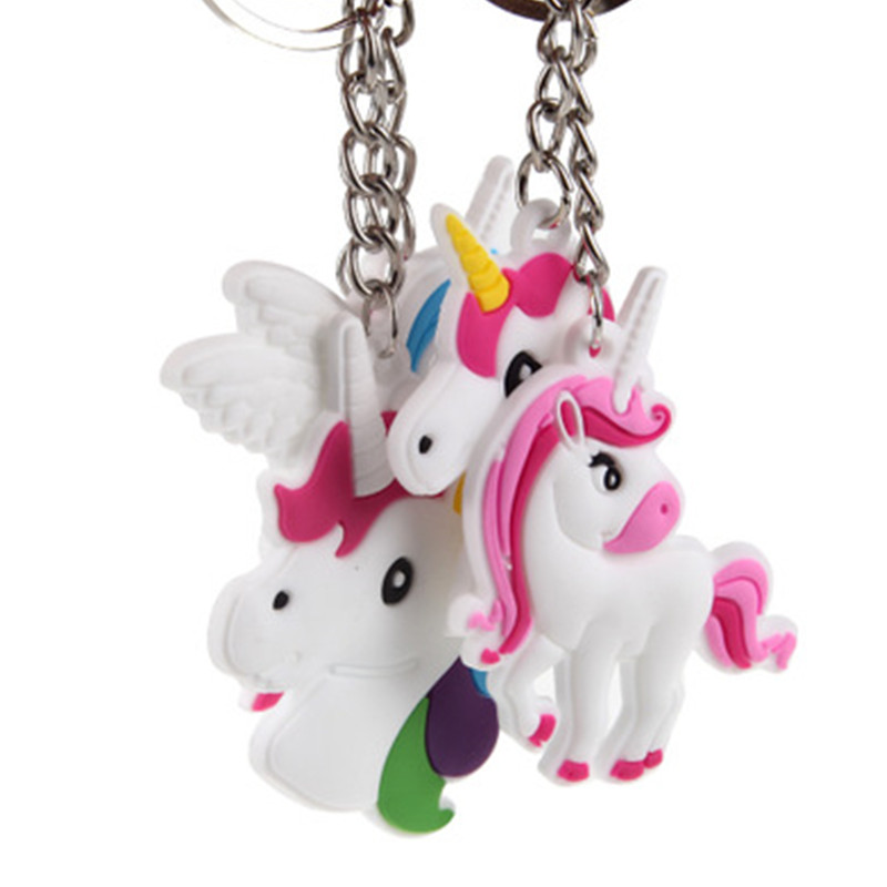 Cute-Fairytale-PVC-Unicorn-Keychain-Party-Favors-Multi-style-Horse-Key-Holder-for-Girls-Christmas-Gift