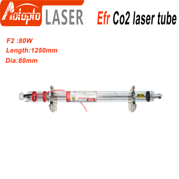 Efr CO2 Laser Tube F2 80W-95W for CO2 Laser Marking Engraving Machine Wooden Box Packing efr f2 80w co2 glass laser tube 80mm diameter 1250mm length for co2 laser engraving machine