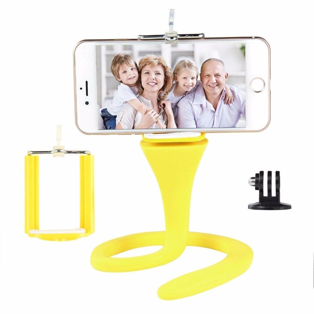 Mini Camera Tripod Mount Banana Pod for Gopro Xiao Mi Yi SJ4000 action camera for iphone7