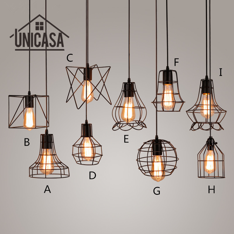 Us 20 64 49 Off Antique Wrought Iron Pendant Lights Mini Lighting Fixtures Vintage Black Metal Kitchen Island Office Led Ceiling Lamp In