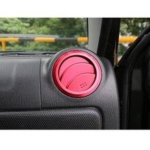 4色アルミトリムacディフューザー出口カバー車のステッカーに適しスズキジムニー車スタイリングアクセサリー