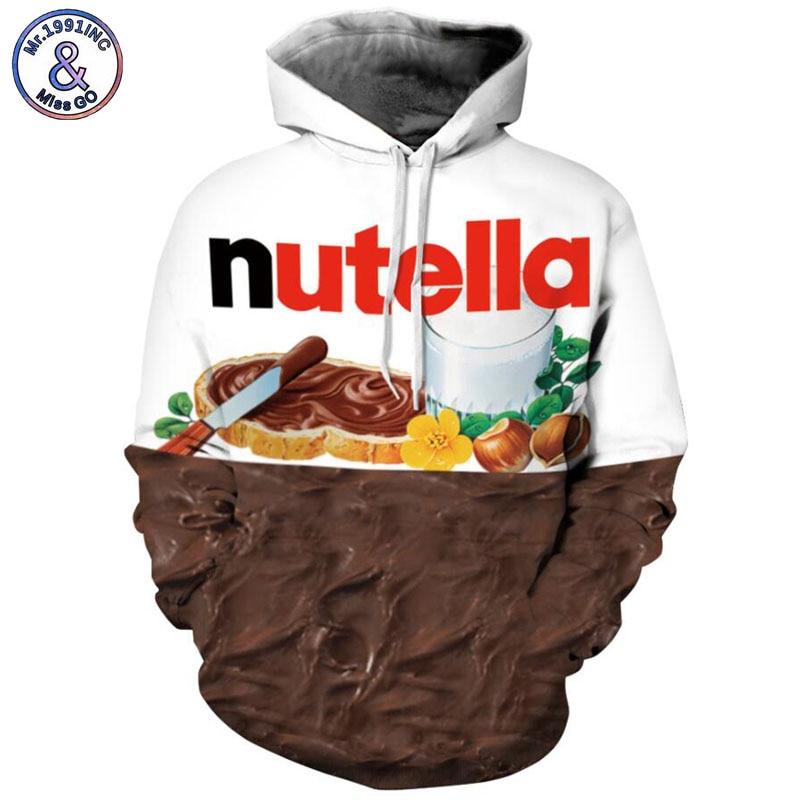 Mr.1991INC 2018 new Hot Cocoa chocolate 3d Sweatshirts Men hoodie sweatshirt Casual Hooded Pullovers Men Hoodies S-3XL M061