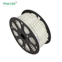 ПВХ покрытием Водонепроницаемый 50 м 2835 220 В, высокая яркость высокое напряжение светодиодные полосы света