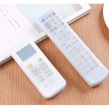 NEW 1PCS Remote Control Cover Silicone Transparent TV Remote Control Case Air Conditioning Dust Protect Storage Bag 5 Sizes
