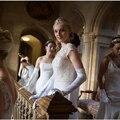 Ópera longas luvas vestido de noiva inverno vestido formal de longas luvas térmicas preto vermelho branco marfim