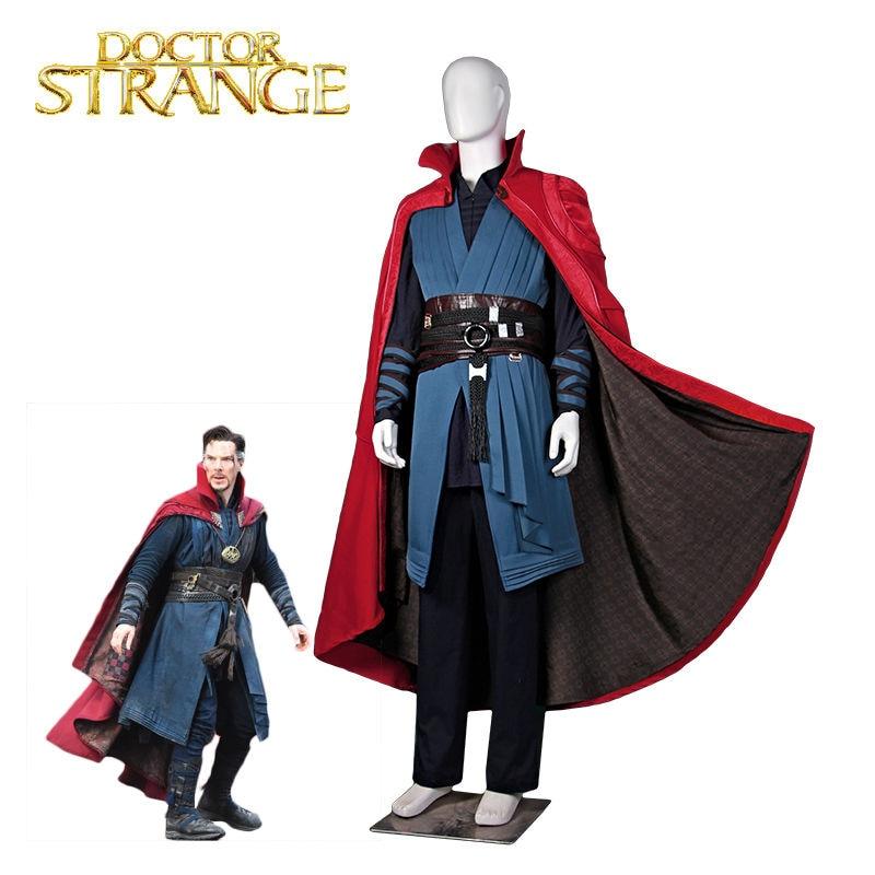 Doctor Strange Cosplay Costume Stephen Steve Vincent Strange Costume Marvel Movie Superhero Costume Custom Made Carnival Costum