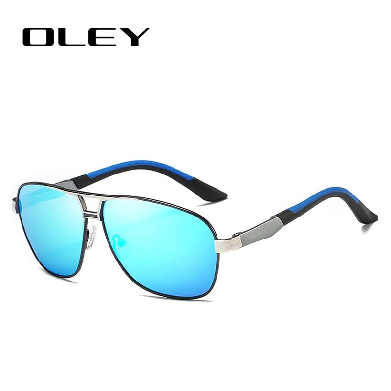 d72fb0043 OLEY marca aluminio hombres piloto gafas de sol polarizadas HD ...