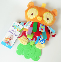 1pc Night Sleepy Hand Eye Coordination Owl Doll Baby Hand Grasp Label Pacify Rattles Teether Development