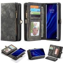 Voor Huawei Mate 20 P20 P30 Pro Case Flip Leather Afneembare Kaarten Wallet Cover Voor P20 P30 Lite Mate 20 houder Stand Telefoon Gevallen