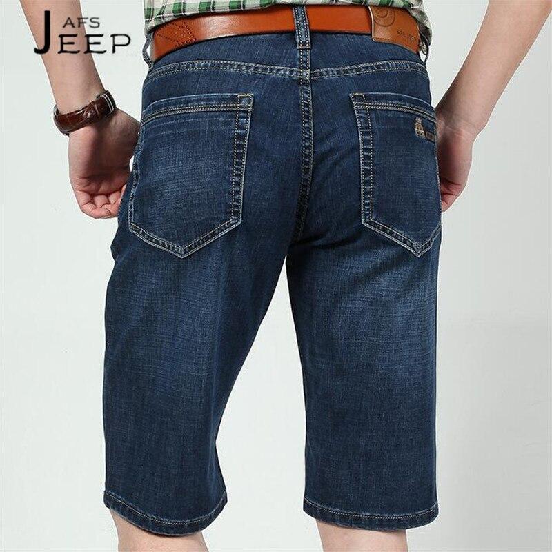 JI PU Big back pocket 2017 summer mans denim short jeans,Dark Blue loose Younger Man Travel Short Length Cowboy short jeans