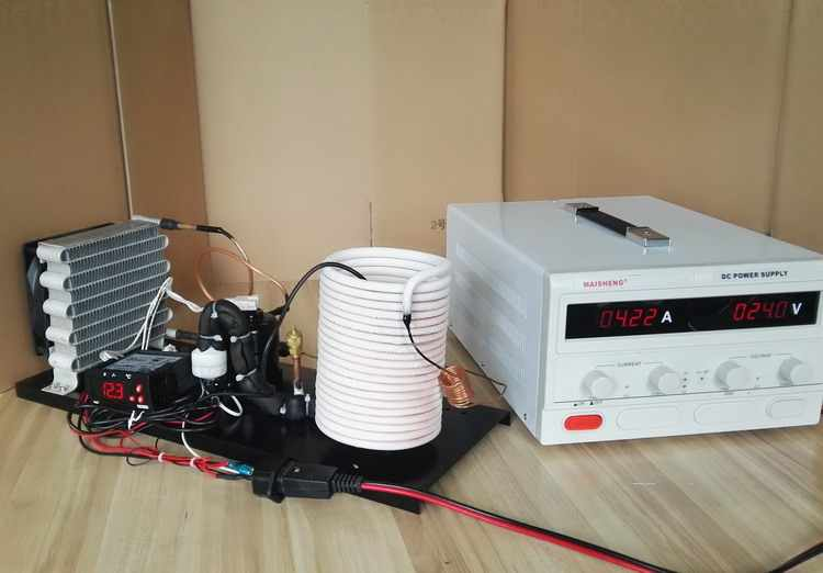PURSWAVE ST19W DC Mini refrigeration system 12V24V48V Tiny compressor water cooling units with condenser evaporator thermostate
