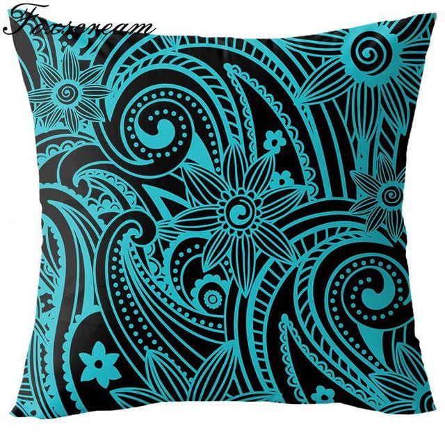 Aliexpress Buy Quatrefoil Turquoise Pillow Case Decorative Mesmerizing Cheap Turquoise Decorative Pillows