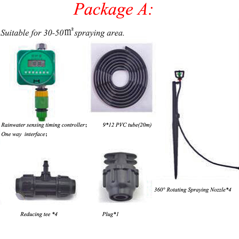 Water Sprinkler With 4 Pieces 360 Degree Rotating Spraying Nozzle Timing For Garden Watering Irrigation Device